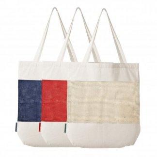 Sac shopping filet personnalisé en coton et coton recyclé - 180g - 38x42x10cm - 3 couleurs - MARCEL
