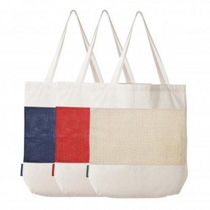 Sac Shopping Filet Personnalisé En Coton Et Coton Recyclé 180g 38x42x10cm 3 Couleurs MARCEL