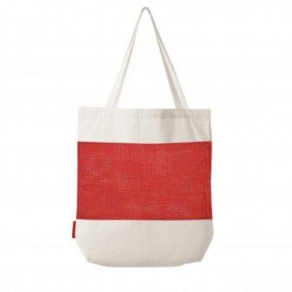 Sac Shopping Filet Promotionnel En Coton Et Coton Recyclé 180g 38x42x10cm Rouge MARCEL