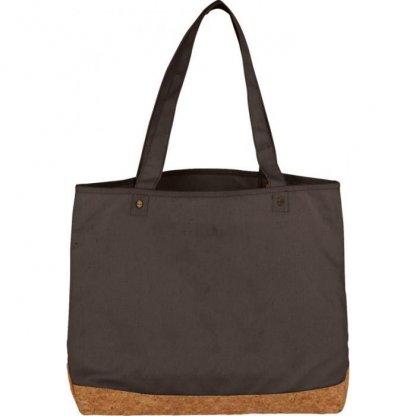 Sac Shopping Personnalisable Avec Fond En Coton Et Liège 406g 35x47,5x14cm Gris NAPA
