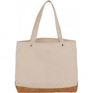 Sac shopping personnalisable avec fond en coton et liège - 406g - 35x47,5x14cm - naturel - NAPA