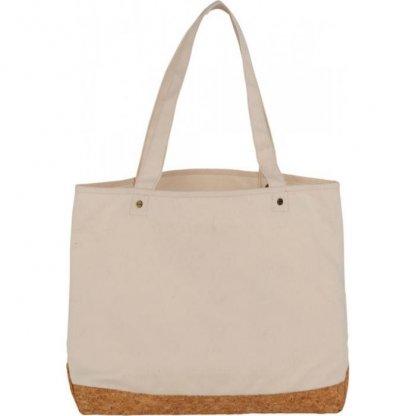 Sac Shopping Personnalisable Avec Fond En Coton Et Liège 406g 35x47,5x14cm Naturel NAPA