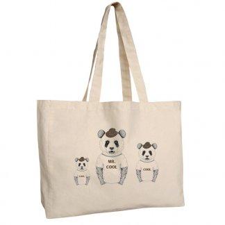 Sac shopping personnalisable avec soufflet en coton naturel - 220g - 35x45x12cm - naturel - MUNNAR