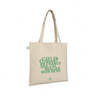 Sac shopping personnalisable en coton biologique - 240g - 38x42cm - face - PATNA