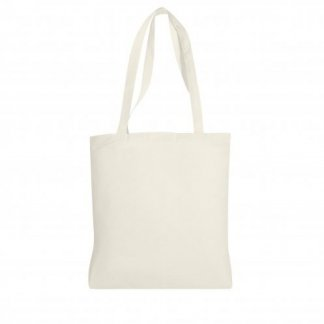Sac shopping personnalisable en coton du commerce équitable - 160g - 36x40cm - Face - FAIR SHOPPER