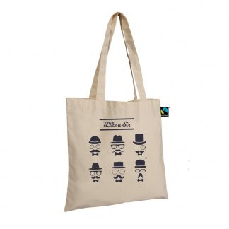 Sac shopping personnalisable en coton du commerce équitable - 160g - 38x42cm - Naturel - BARELI