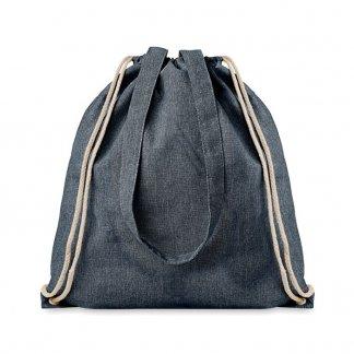 Sac shopping personnalisé en coton recyclé - 140g - 38x42cm - bleu - MOIRADUO