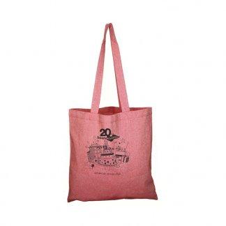 Sac shopping personnalisé en coton recyclé - 150g - 38x42cm - rouge - NAZIK