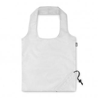 Sac shopping pliable personnalisé en bouteilles plastiques recyclées - 40x38cm - Blanc - FOLDPET
