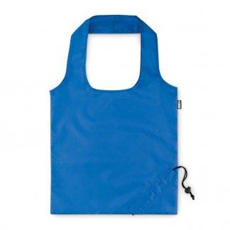 Sac shopping pliable promotionnel en bouteilles plastiques recyclées - 40x38cm - Bleu - FOLDPET