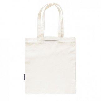 Sac shopping promotionnel avec double poignée en coton et bouteilles plastiques recyclées - 160g - 38x42cm - BIOMIXY