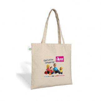 Sac shopping promotionnel en coton biologique - 160g - 38x42cm - Naturel - THANE