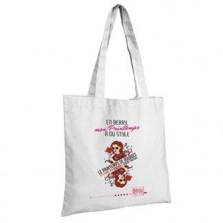 Sac shopping promotionnel en coton naturel - 160g - 38x42cm - Blanc - MADURAI