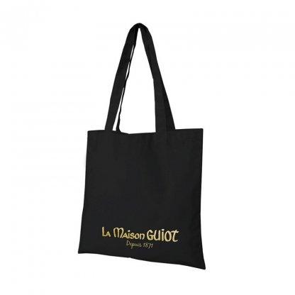 Sac Shopping Promotionnel En Coton Naturel 220g 38x42cm Noir MUNDRA