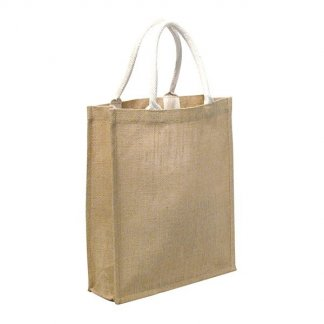 Sac shopping promotionnel en toile de jute - 34x40x12cm - LEWES