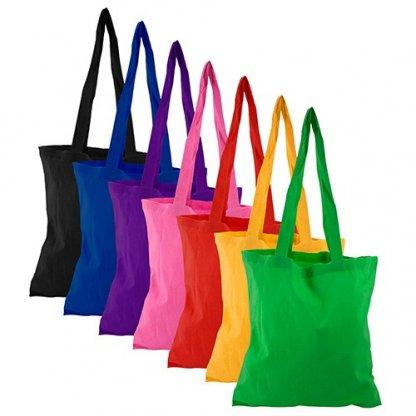 Sac Shopping Publicitaire En Coton Coloré Sans AZO 120g Toutes Couleurs BRIXTON
