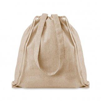 Sac shopping publicitaire en coton recyclé - 140g - 38x42cm - naturel - MOIRADUO