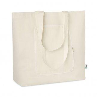 Sac shopping publicitaire en coton recyclé - 40x45cm - ZIGZAG