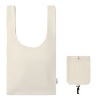 Sac shopping publicitaire en coton recyclé - 65x34,5cm - FOLD-IT-UP