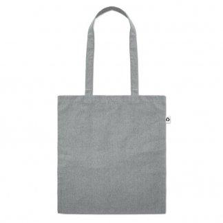 Sac shopping publicitaire en coton recyclé - Gris - 140g - 38x42cm - COTTONEL DUO