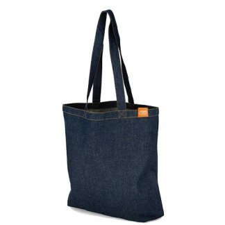 Sac shopping publicitaire en denim recyclé - CARNABY