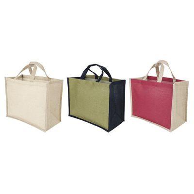 Sac Shopping Publicitaire En Jute Et Coton 3 Couleurs JUCO