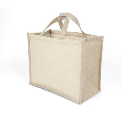 Sac Shopping Publicitaire En Jute Et Coton Naturel JUCO