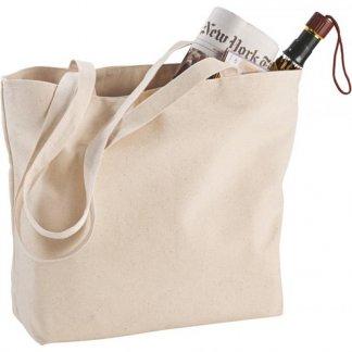 Sac shopping zippé personnalisable en coton - 340g - 11x30