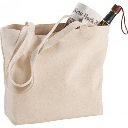 Sac Shopping Zippé Personnalisable En Coton 340g 11x30