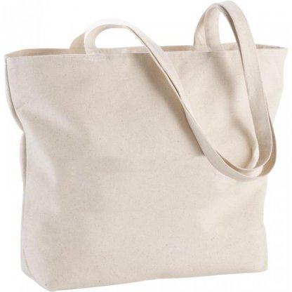 Sac Shopping Zippé Personnalisé En Coton 340g 11x30