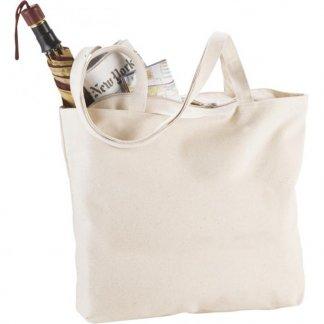 Sac shopping zippé promotionnel en coton - 340g - 11x30