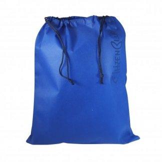 Sac week-end promotionnel en filets de pêche et bouteilles plastiques recyclés - pochon bleu - ROMIBLUE