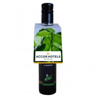 Sachet de graines accroche porte et collerette bouteille personnalisable - sur bouteille vinaigre - CROCHGRAINES