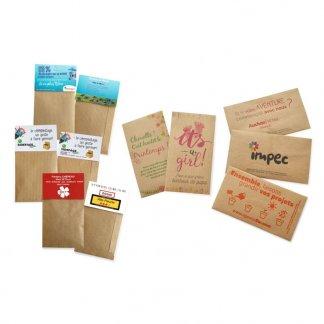 Sachet de graines en papier kraft - Personnalisation - KRAFTGRAINES