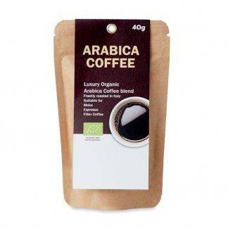Sachet publicitaire de café moulu bio - ARABICA 40