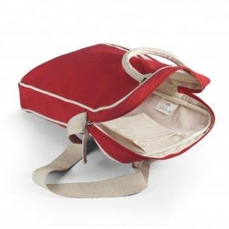 Sacoche Vintage personnalisable en coton biologique - Ouverte - SEDAR