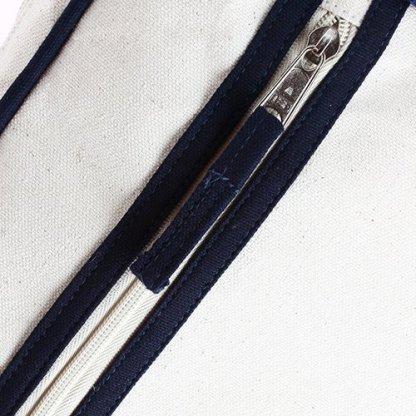 Sacoche Vintage Publicitaire En Coton Biologique Zoom Fermeture SEDAR