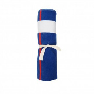 Serviette de plage promotionnelle en coton RECOVER et polyester SEAQUAL - 100x160cm - lien - BLUEPLAYA