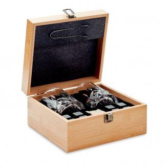 Set à Whisky Personnalisable Dans Boite En Bambou INVERNESS