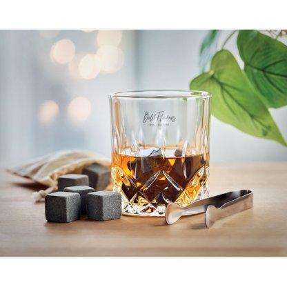 Set à Whisky Sans Boite En Bambou INVERNESS Avec Marquage Sur Verre