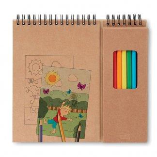 Set coloriage 8 crayons de couleur + 6 coloriages publicitaire - COLOPAD