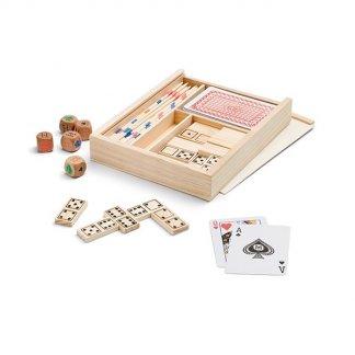 Set de 4 jeux publicitaire en bois - FOURBOIS