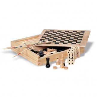 Set de 4 jeux publicitaire en bois - ouvert - TRIKES