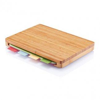 Set de 4 planches à découper dans support en bambou publicitaire - CUT