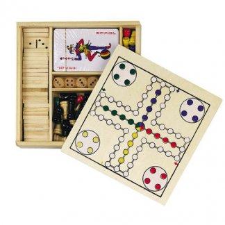 Set de 5 jeux publicitaire en bois - JING