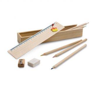 Set de dessin publicitaire en bois