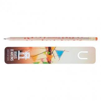 Set écriture crayon et marque-page certifié publicitaire - naturel - KIT MARQUE-PAGE