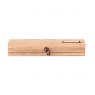 Set écriture dans coffret en bambou publicitaire - plaque - CORTINA ETUI
