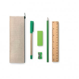 Set écriture en jute, coton, bambou, papier publicitaire - TEKINA