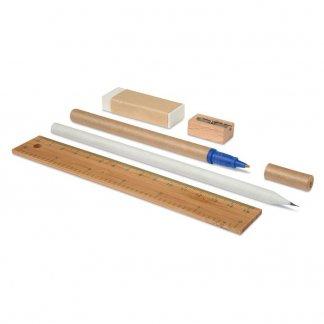 Set écriture publicitaire en jute, coton, bambou, papier - accessoires - ECOSET